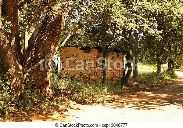 Dilapidated Rural Shack - csp13048777