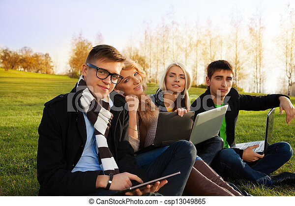 Company of young adults - csp13049865