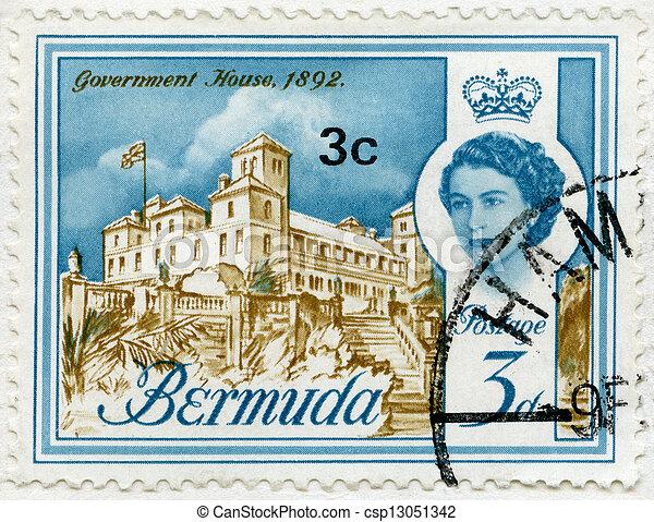 BERMUDA - 1962: shows Government House, 1892 - csp13051342