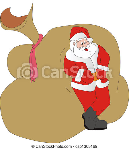 Santa Klaus has a rest - csp1305169
