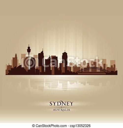Sydney Australia skyline city silhouette - csp13052326
