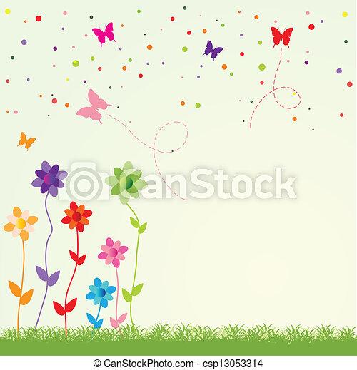 spring illustration - csp13053314
