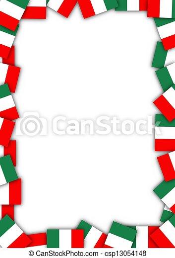 Zeichnung Von Italien Fahne Umrandungen Abbildung Von