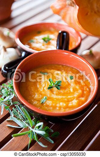 Pumpkin Soup - Healthy Food, Vegetarian and gluten free meal - csp13055030