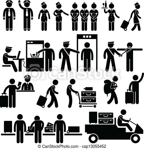 Airport Workers and Security - csp13055452