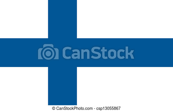 Finland flag - csp13055867