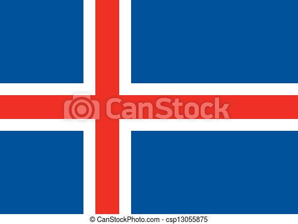 Iceland flag - csp13055875