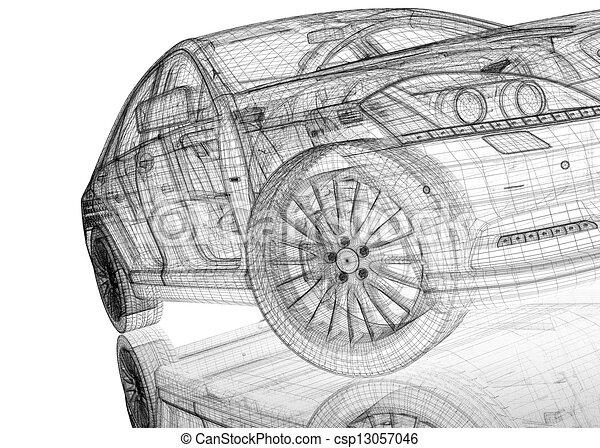 Car 3d Model Clipart Instant Download Csp13057046