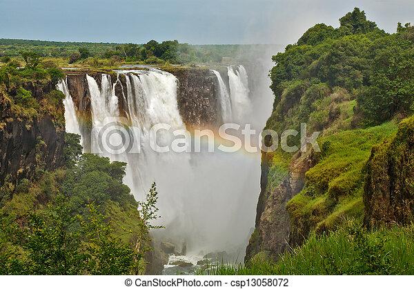 Victoria Falls, Zimbabwe, closeup - csp13058072