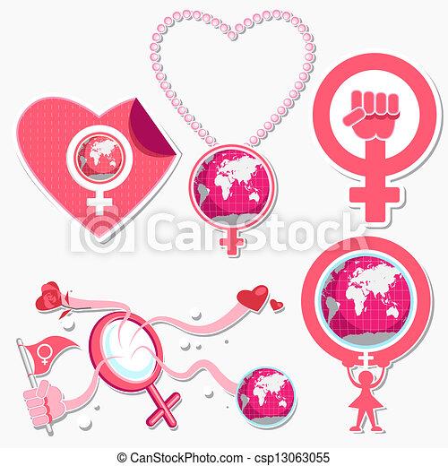 International Woman Day Symbol and  - csp13063055