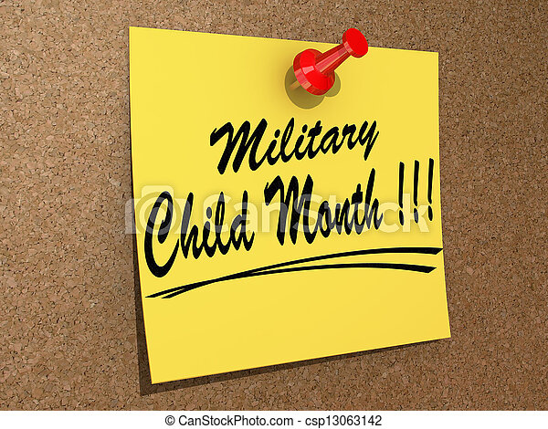 Military Child Month - csp13063142