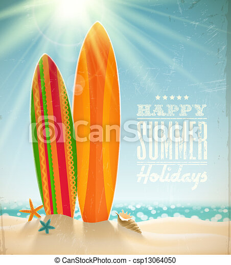 Vector holidays vintage design - csp13064050