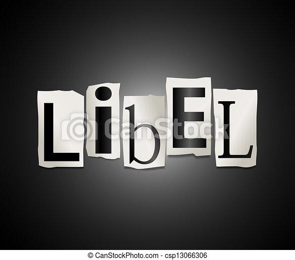 Libel Concept. Stock Illustration - Instant Download ...