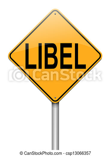 Libel Concept. - Royalty Free Clipart - csp13066357