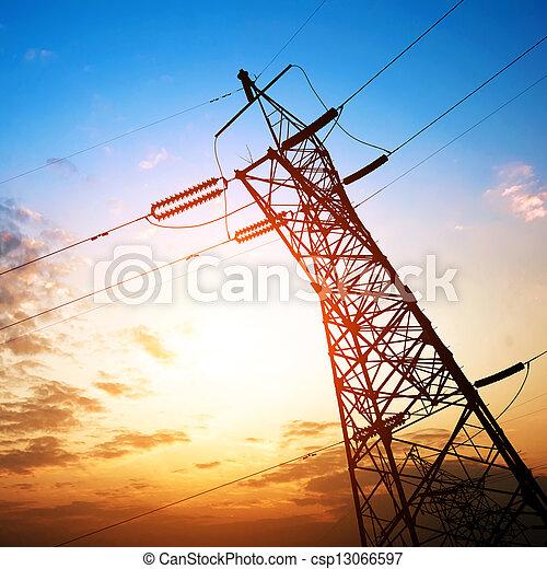 high voltage post - csp13066597