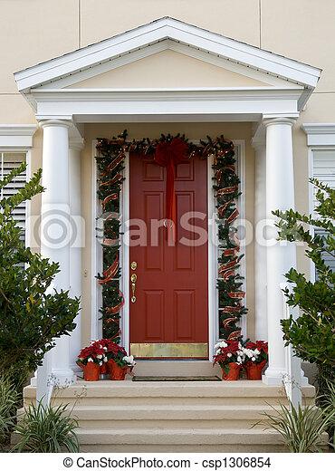 Tür, Weihnachten - csp1306854