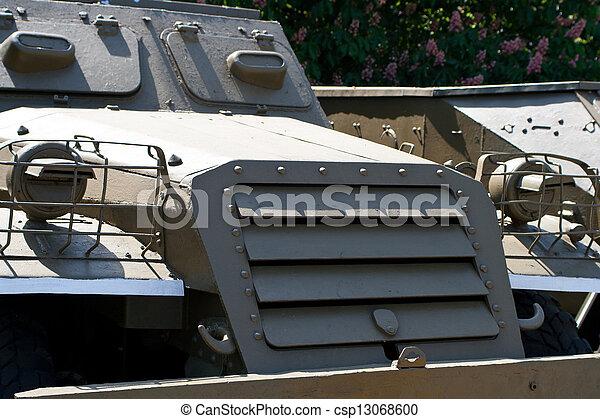 parts of the Soviet military machine stood - csp13068600