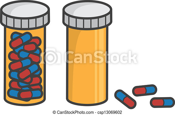 Vector Clip Art de botella, Lleno, píldora, vacío ...