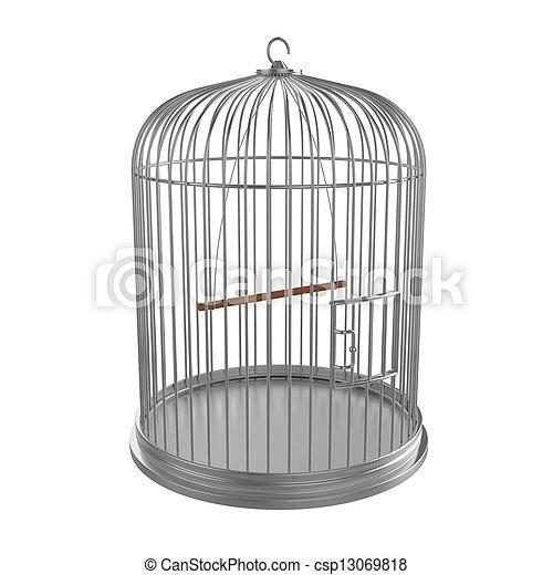 Silver bird cage - csp13069818