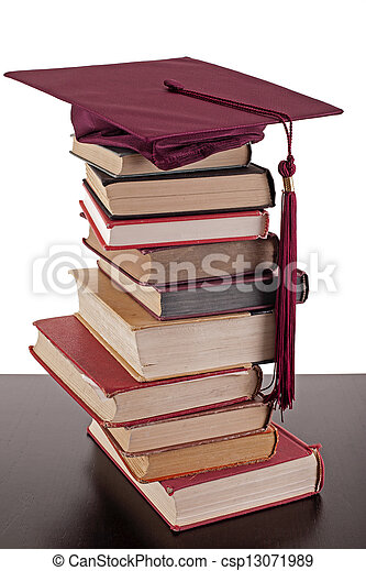 studying for graduation - csp13071989