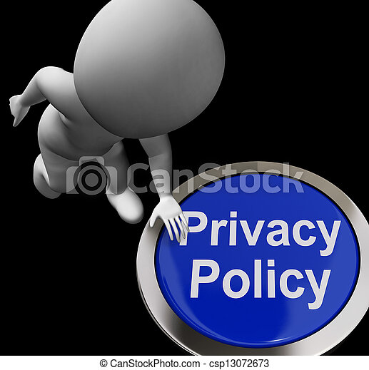 Privacy Policy Button Shows The Company Data Protection Terms - csp13072673
