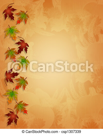 Thanksgiving Autumn Fall Background - csp1307339