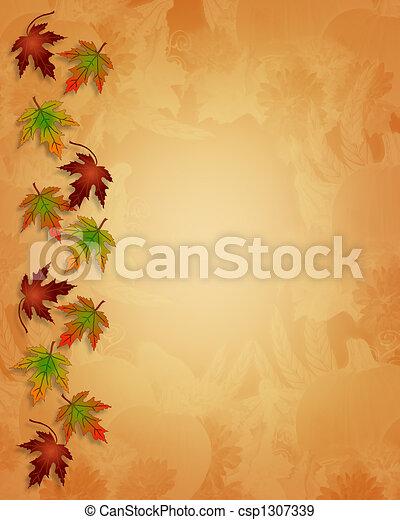 Thanksgiving Autumn Fall Background - csp1307339