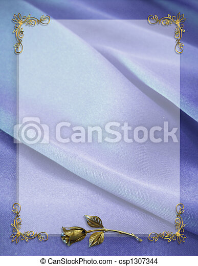 Wedding Party Invitation Border - csp1307344