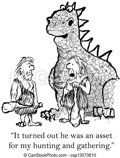 Clipart di il caverna uomo diventa amici dinosauro for Piani di caverna di garage uomo
