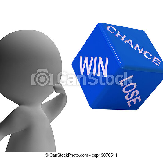Chance Win Lose Dice Shows Gambling And Risk - csp13076511