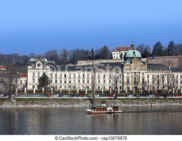 Prague - Government of the Czech Republic and Kramar's Villa - csp13076978