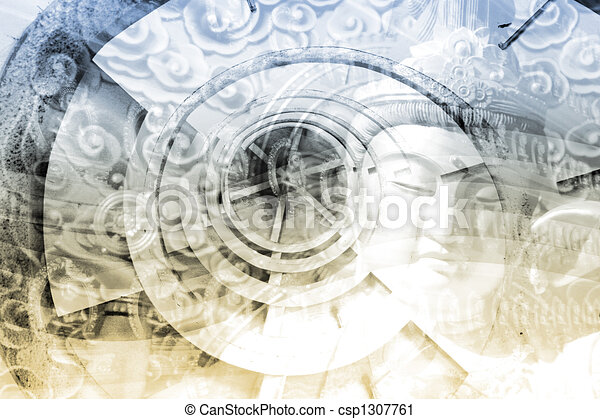 Collage of Asia Culture - csp1307761