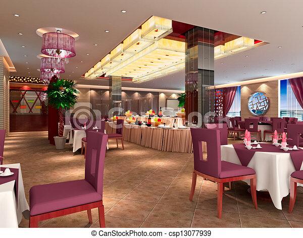 Desenhos De Modernos 3d Restaurante Modernos