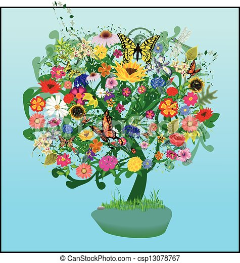 Tree of Life and Nature Vector - csp13078767