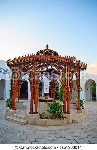 arabic hotel architecture - csp1308014