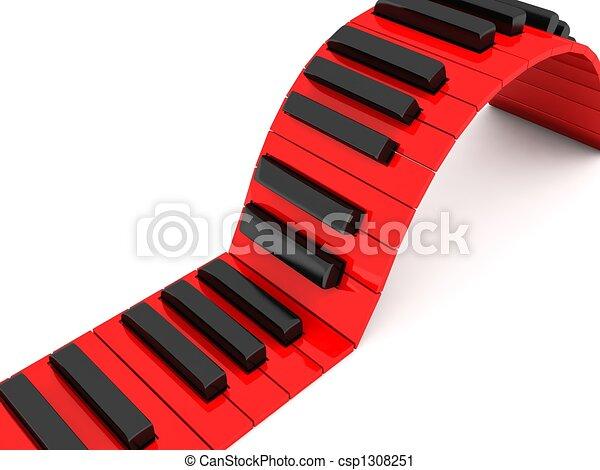 three dimensional piano keys - csp1308251