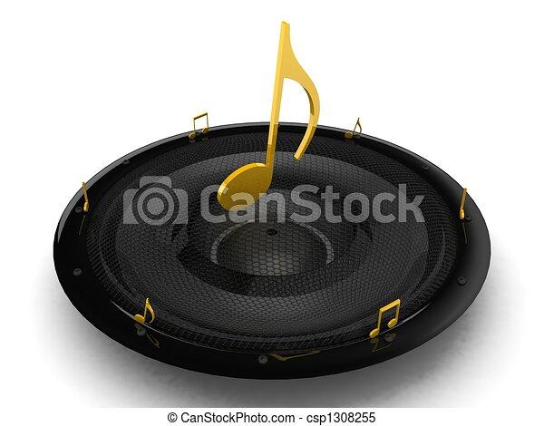three dimensional musical notes - csp1308255