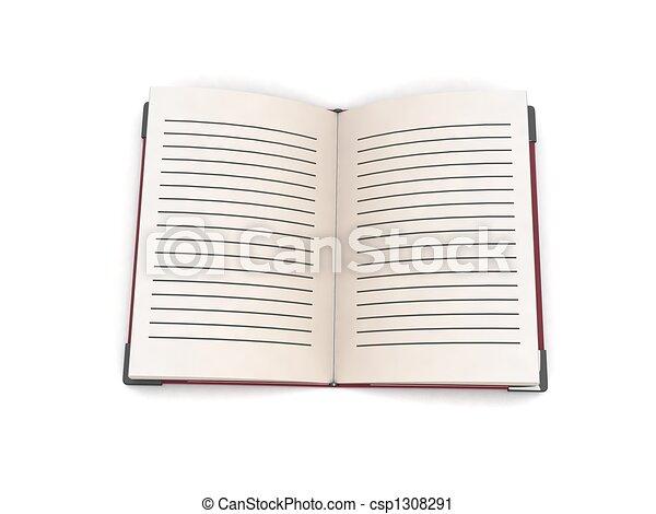 three dimensional open book - csp1308291