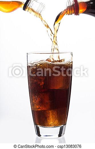 cubo, alcohol, hielo, vidrio, relleno, soda - csp13083076