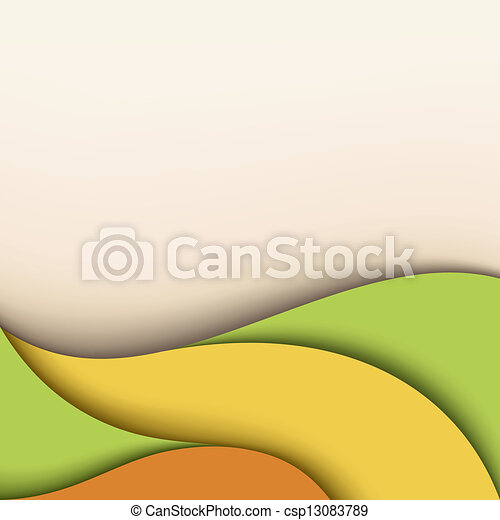 Wavy background with place for text - csp13083789