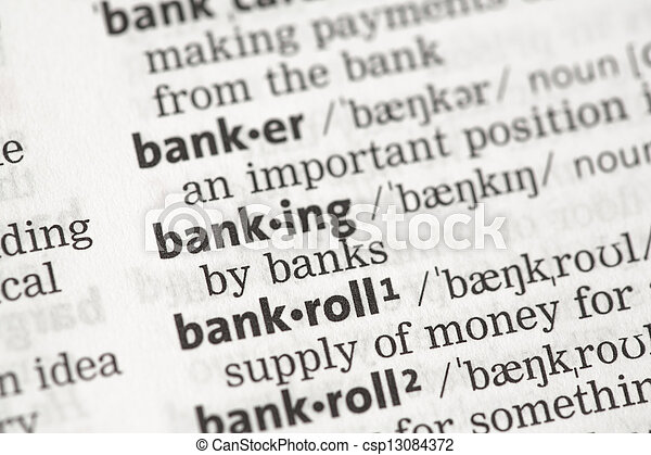 Banking definition - csp13084372