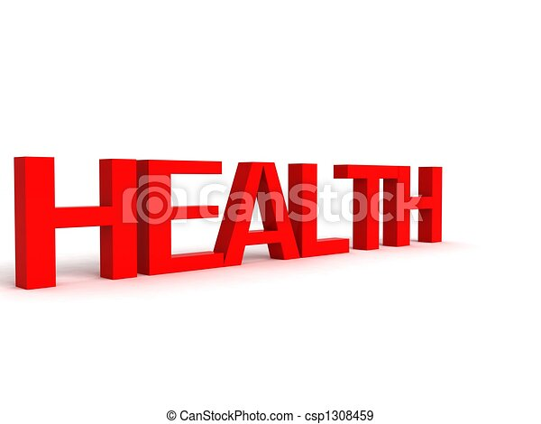three dimensional letters of health - csp1308459