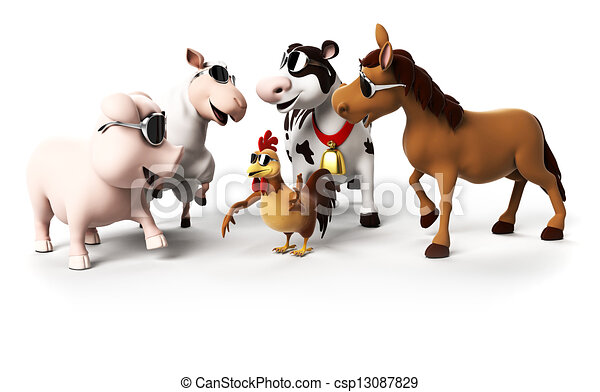 Farm animals - csp13087829