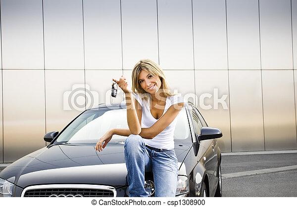 nouveau, voiture - csp1308900