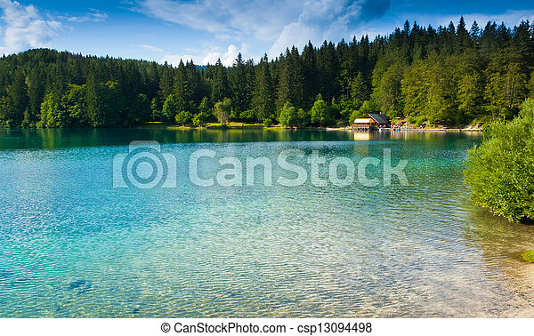 Fusine Lower Lake - csp13094498