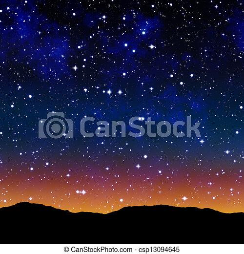 dessin de toil ciel nuit ext rieur espace ou toil ciel csp13094645. Black Bedroom Furniture Sets. Home Design Ideas