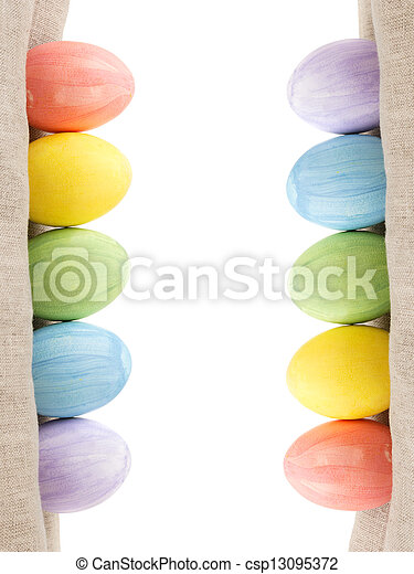 two rows of easter eggs - csp13095372
