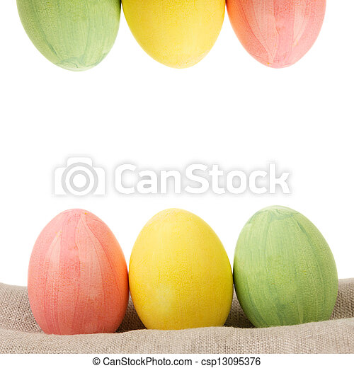 two rows of easter eggs - csp13095376
