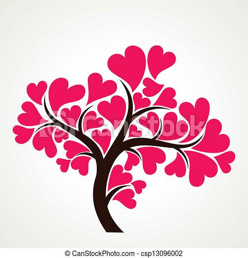 clipart vecteur de rose coeur le arbre forme amant amant arbre csp13096002. Black Bedroom Furniture Sets. Home Design Ideas