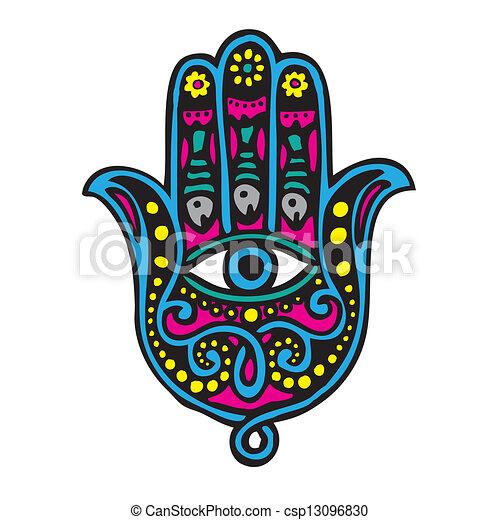 Vecteurs de fatima main khamsa csp13096830 recherchez - Main de fatma dessin ...